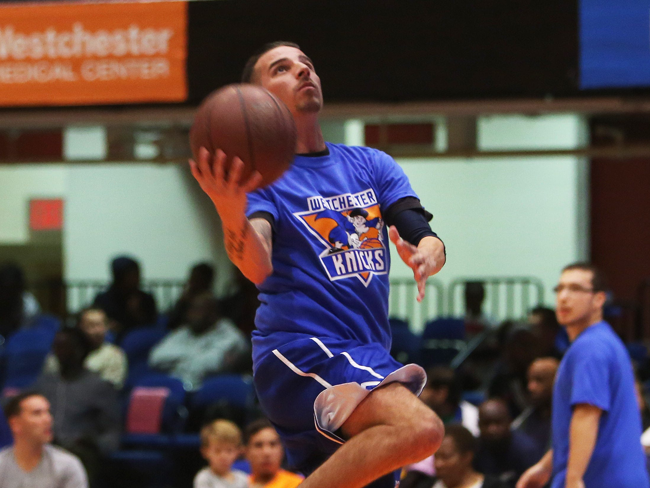 A Local Celebrity Game during the Westchester Knicks Open House for fans at the Westchester County Center in White Plains Oct. 6, 2015.
