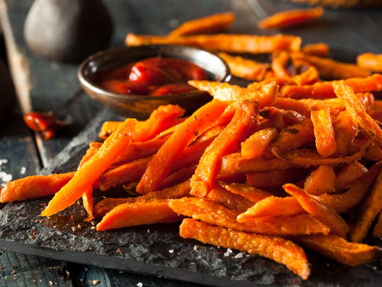 Sweet potato fries are a great alternative to the gooey marshmallow-covered sweet potatoes that mom used to make.