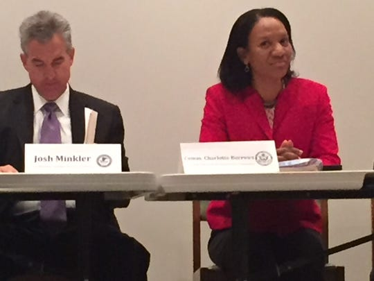 U.S. Attorney Josh Minkler and EEOC Commissioner Charlotte Burrows were part of a panel discussion on diversity in law enforcement held Thursday at Indiana University, Purdue University—Indianapolis.