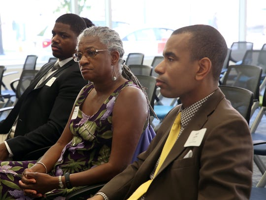 Shirley Thompson of FR=EE listens during the Unite