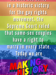 """Screen shot of snapchat """"Marriage Equality"""" snap story"""