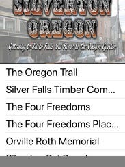 "A new iPhone app --  ""Silverton Mural Society"" -- designed"