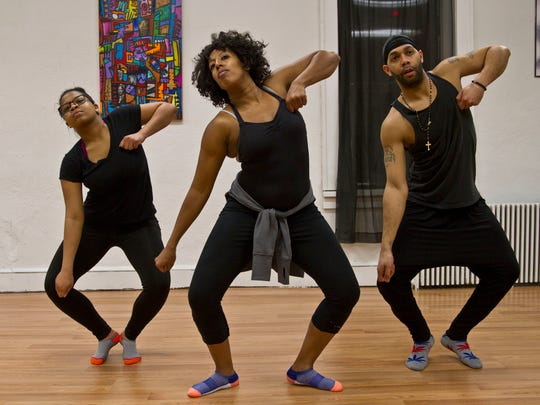 Asaye Dance Company in Long Branch is owned by Valerie Whitaker (center), seen here dancing with fellow teachers Raven Davis (left) of Long Branch and Derrick Forde of Neptune.