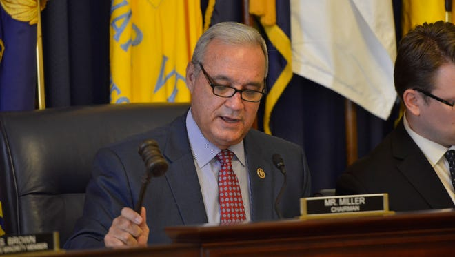 Rep. Jeff Miller, R-Fla., chairman of the House Committee on Veterans, presides over a hearing earlier this year