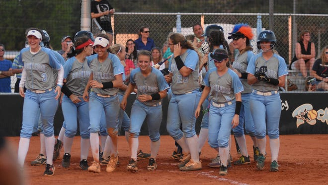 The Rockledge softball team placed first in the Cape Coast Conference standings this year.
