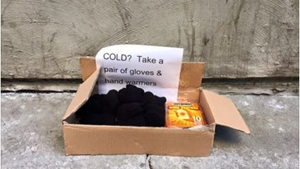 The Downtown Community alliance posted a photo on its Facebook page of a random act of kindness spotted in downtown Des Moines.