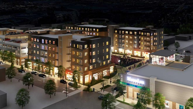 A rendering of The Foundry, Loveland's downtown catalyst project. TownePlace Suites by Marriott will anchor the southern end of the $75 million multiuse development.