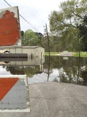 Flood waters from an April storm caused roads across