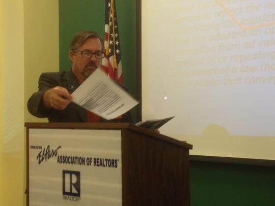 El Paso Realtor Rick Snow urges El Paso Realtors to