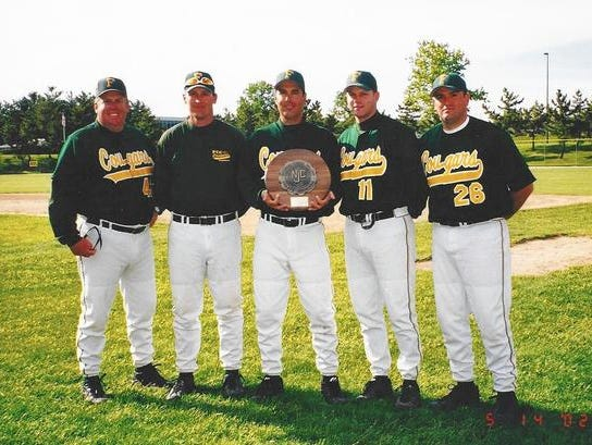 Dan Taylor, center, will be inducted into the Frederick Community College (Md.) hall of fame on Friday night.