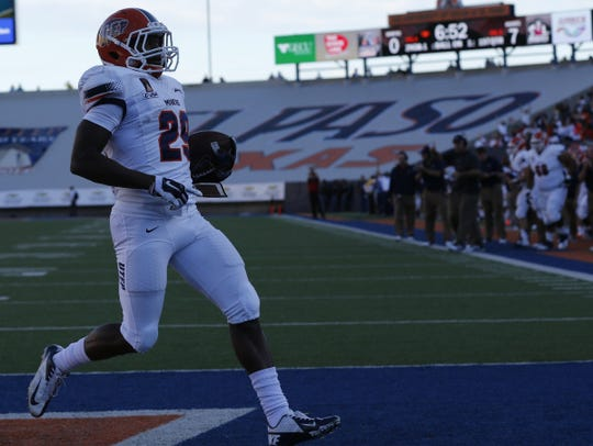 UTEP running back Aaron Jones didn't play against the