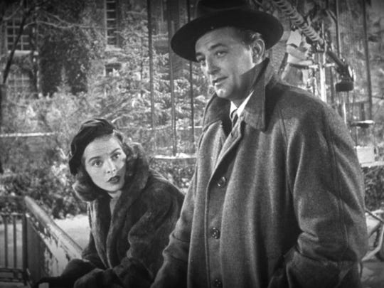 "Janet Leigh and Robert Mitchum star in the 1949 Christmas romance ""Holiday Affair"""