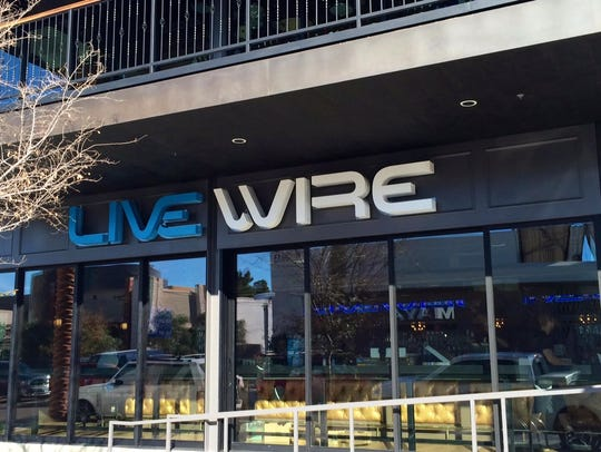 The front entrance of Livewire, a new music venue in