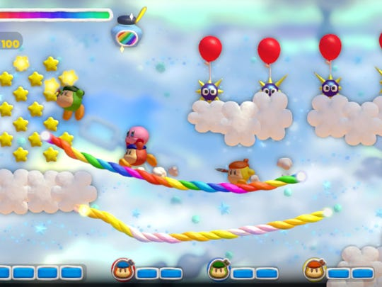 Co-op play lets your bring up to three Waddle Dees with you to help Kirby in his adventure.