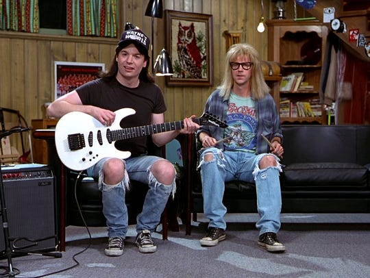 """Wayne's World"" gets a showing under the stars Friday thanks to the Milwaukee Bike-In Movie Series."