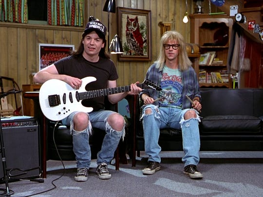 """""""Wayne's World"""" gets a showing under the stars Friday thanks to the Milwaukee Bike-In Movie Series."""