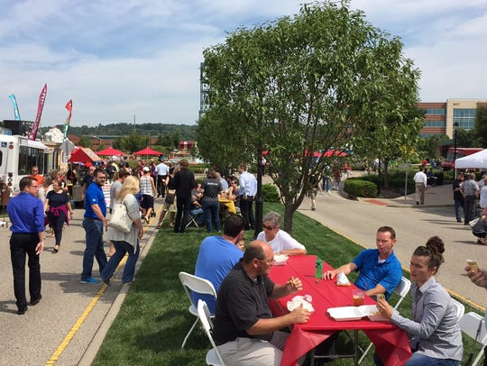 Crowds started chowing early at West Chester's Food