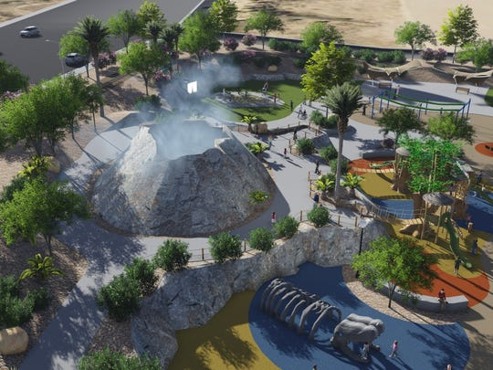 A computer rendering shows the plans for the All Abilities Park in St. George.