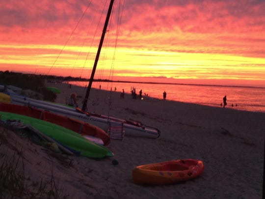 Lewes sunsets attract crowds on summer nights. Lewes City Council, concerned about environmental and economic impacts from off shore oil exploration, voted Monday to oppose seismic testing off the Delaware and MidAtlantic Coast.
