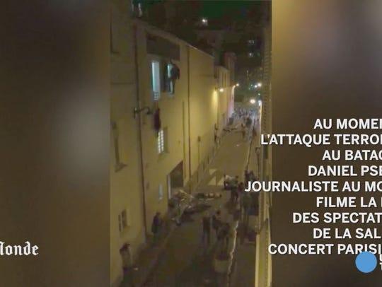 Le Monde journalist Daniel Psenny filmed from his window