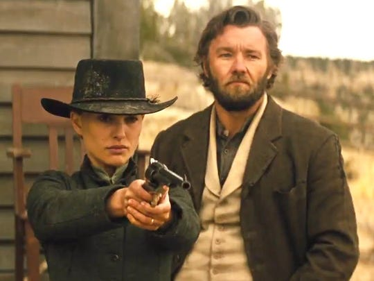"Natalie Portman is Jane and Joel Edgerton is Dan in ""Jane Got a Gun."""