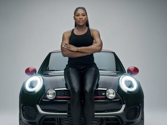 Tennis champ Serena Williams presents a powerful stance