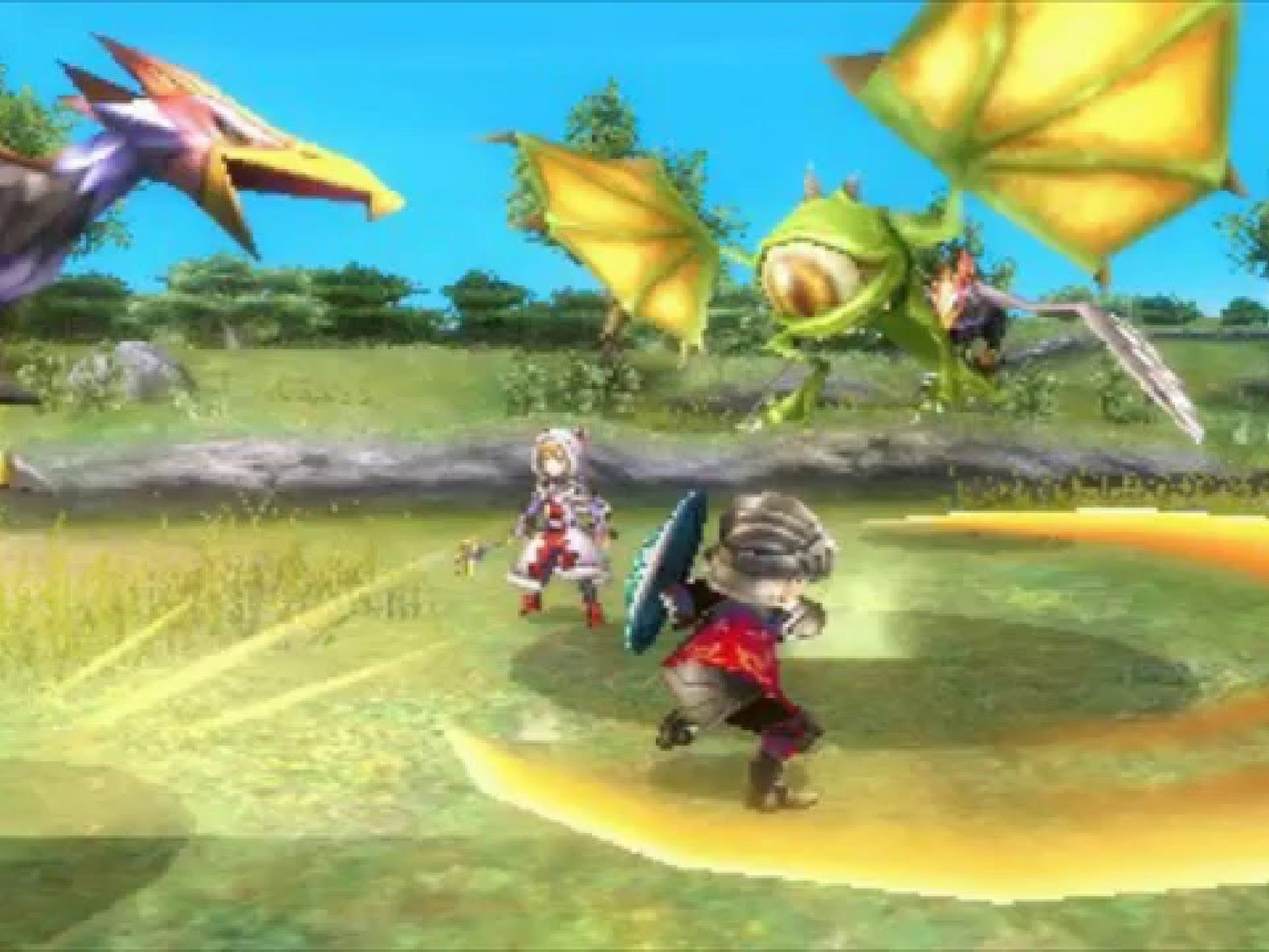 Battle monsters and craft gear in Final Fantasy Explorers