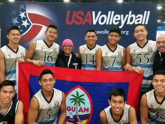 The Guam Boys' Junior National Volleyball Team competed