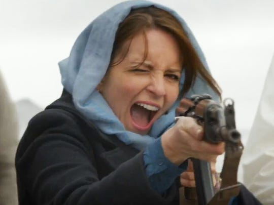 "Tina Fey lets fly in ""Whiskey Tango Foxtrot."""