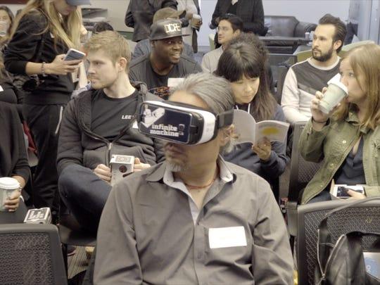 YouTube Space Virtual Reality filmmaking seminar attendee