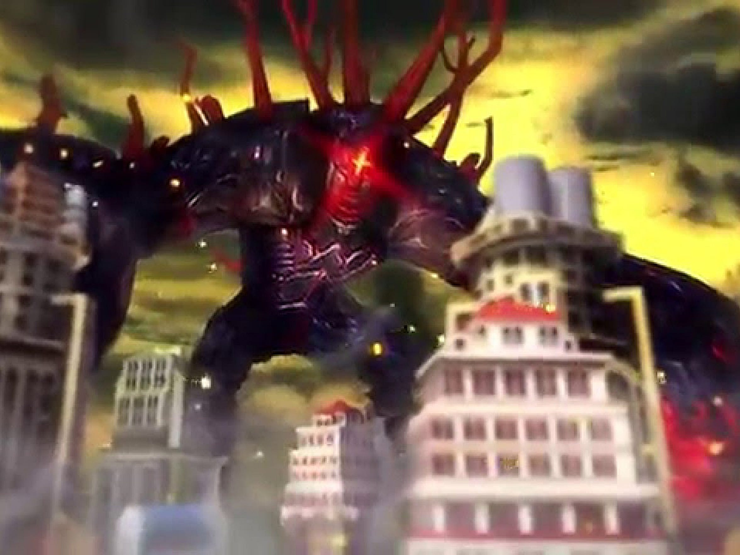 "Defend cities from gian monsters in ""Aegis of Earth: Protonovus Assault."""