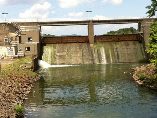Lake DeForest reservoir dam