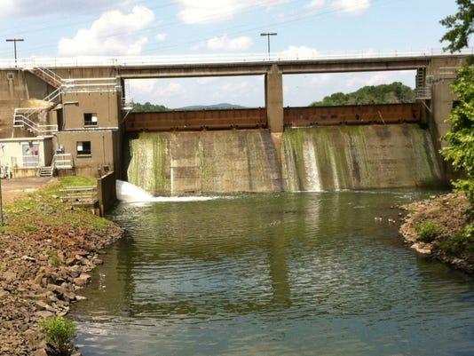 Lake DeForest reservoir dam