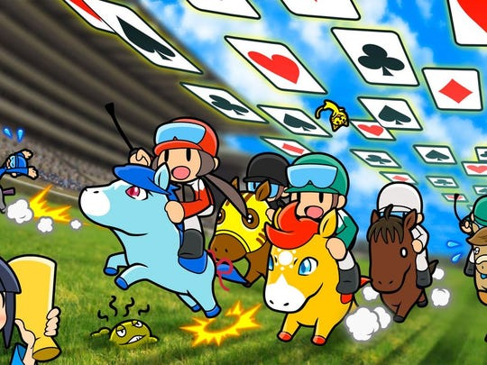Pocket Card Jockey combines solitaire and horse racing. Seriously.