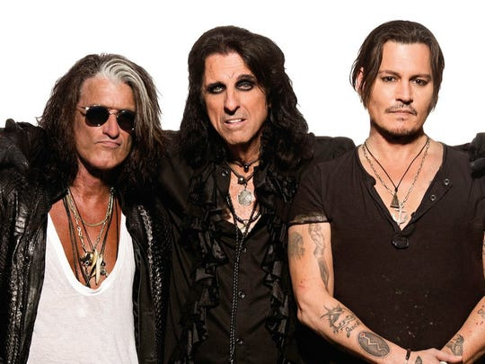 Hollywood Vampires, featuring Joe Perry, Alice Cooper and Johnny Depp, will perform at Borgata on July 3.