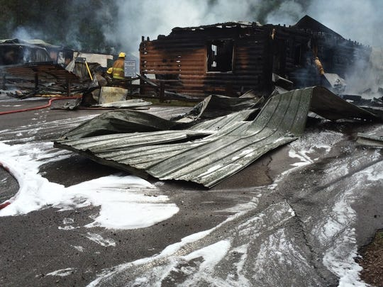 Levis mound chalet burned down last week.