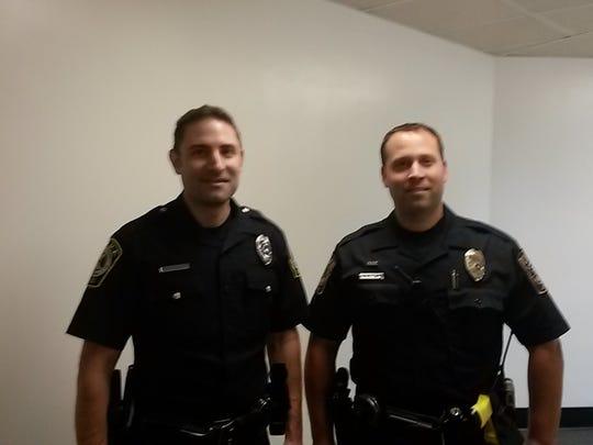 Officer Joshua Crimmel, left, of York Area Regional