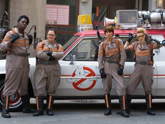 "The new ""Ghostbusters"" are, from left, Leslie Jones, Melissa McCarthy, Kristen Wiig and Kate McKinnon."