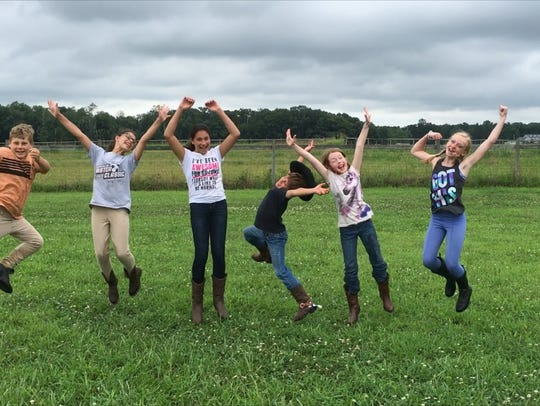 Campers have some fun at Circle D Farm's summer horse