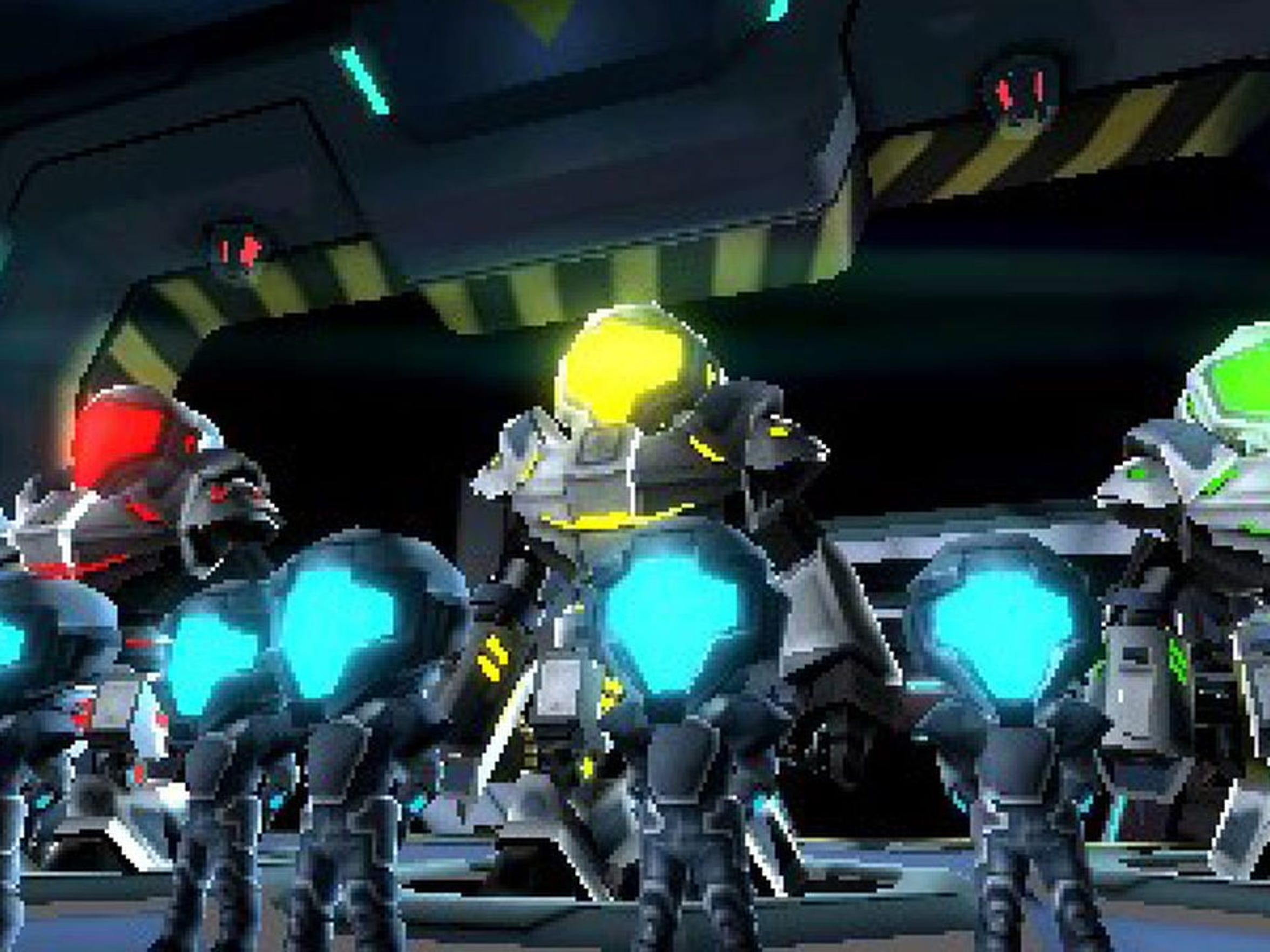 Suit up with large mechs and fight space pirates in