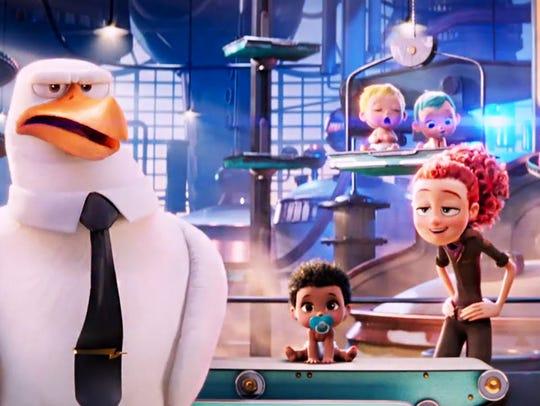 """Storks no longer deliver babies in """"Storks;"""" they deliver"""