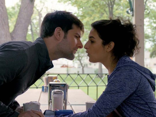 "Adam Scott and Jenny Slate star in ""My Blind Brother."""