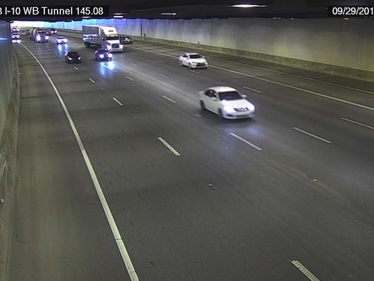 ADOT camera images from inside the Deck Park Tunnel