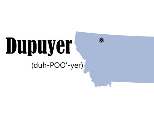 Dupuyer is between Choteau and Browning along US Highway 89.