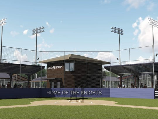 This rendering shows the future plans for Moore Park after improvements are made. Lafayette Christian Academy is partnering with Lafayette Consolidated Government on the project.
