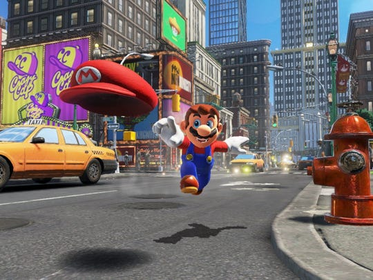 Super Mario Odyssey for the Nintendo Switch.