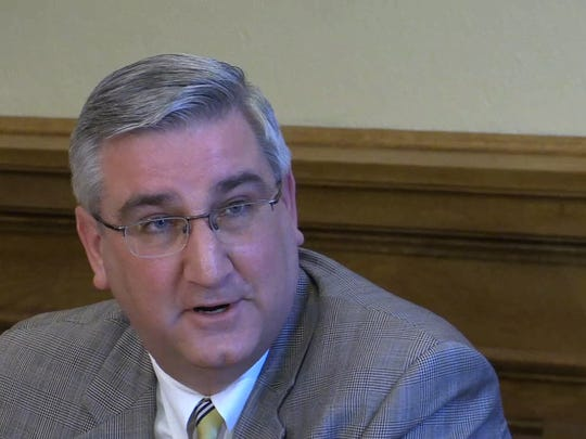 Indiana Gov. Eric Holcomb  announced at a press conference