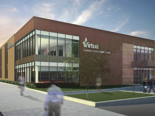 A rendering shows the planned Virtua Camden Family Health Center, expected to rise on Mount Ephraim Avenue at Everett Street.