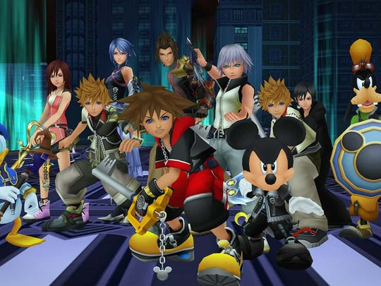 The cast from Kingdom Hearts 2.8.