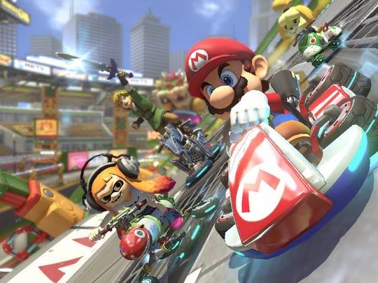 Mario Kart 8 Deluxe for the Nintendo Switch.